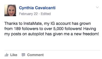 Cynthia Facebook Testimonial